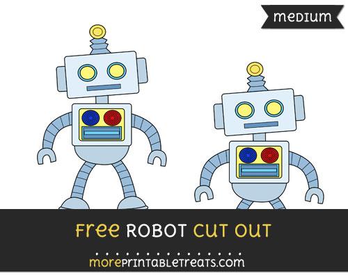 Free Robot Cut Out - Medium Size Printable