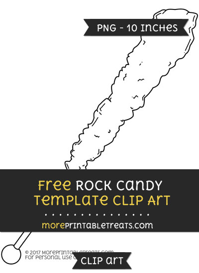 Free Rock Candy Template - Clipart