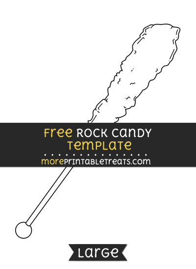 Free Rock Candy Template - Large