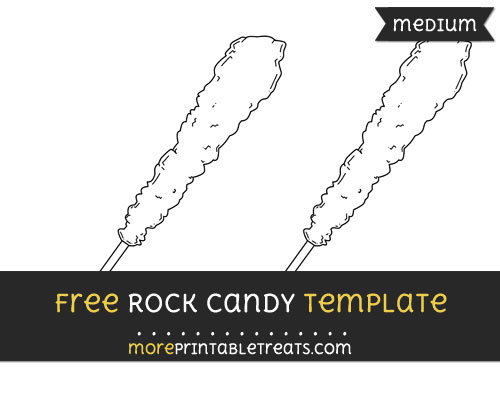 Free Rock Candy Template - Medium