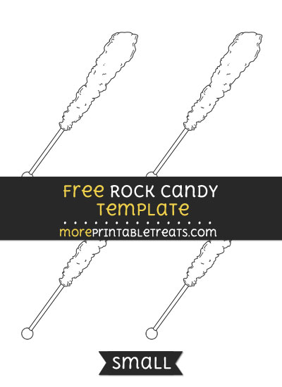 Free Rock Candy Template - Small
