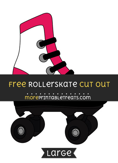Free Rollerskate Cut Out - Large size printable