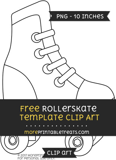Free Rollerskate Template - Clipart
