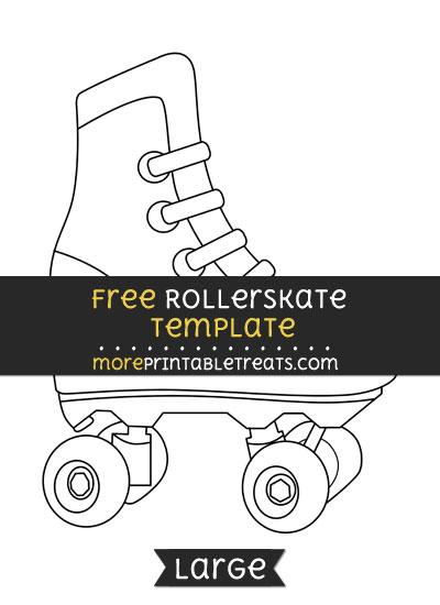 Free Rollerskate Template - Large