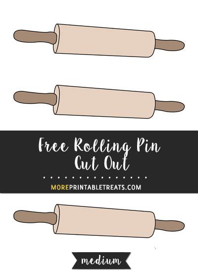 Free Rolling Pin Cut Out - Medium