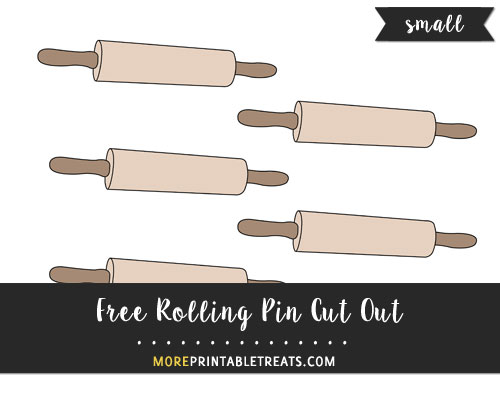 Free Rolling Pin Cut Out - Small