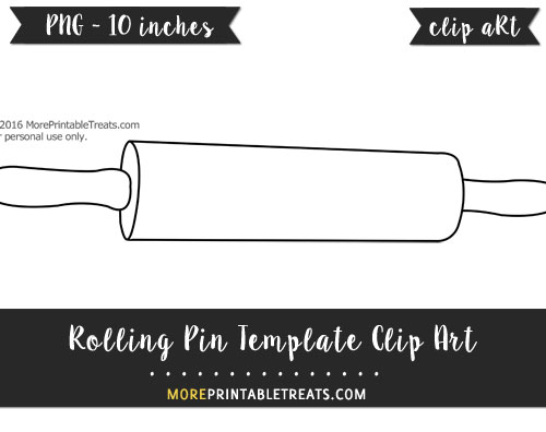 Free Rolling Pin Template - Clipart