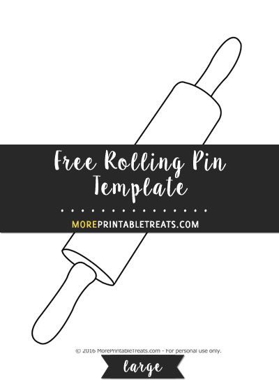 Free Rolling Pin Template - Large