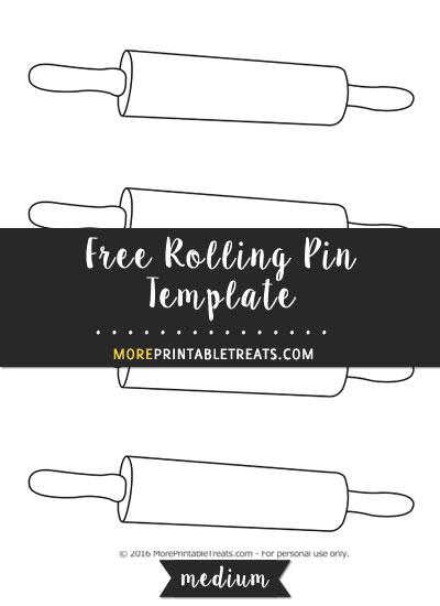 Free Rolling Pin Template - Medium