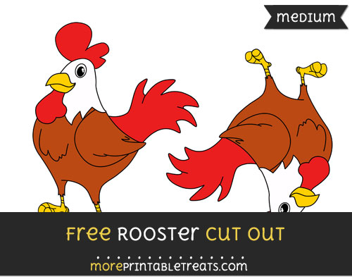 Free Rooster Cut Out - Medium Size Printable