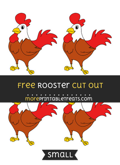 Free Rooster Cut Out - Small Size Printable