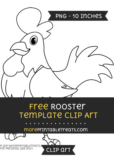 Free Rooster Template - Clipart