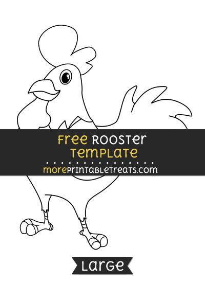 Free Rooster Template - Large