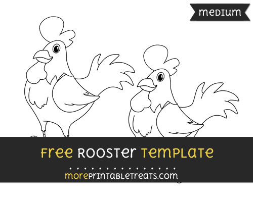 Free Rooster Template - Medium