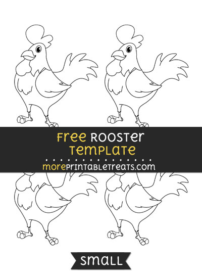 Free Rooster Template - Small