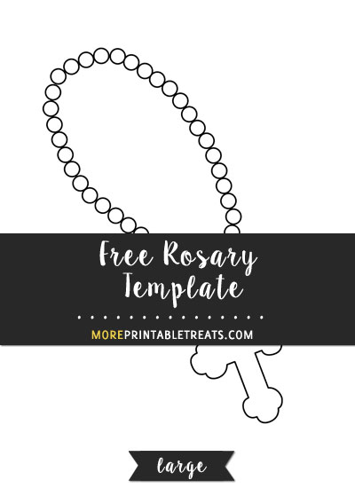 Free Rosary Template - Large