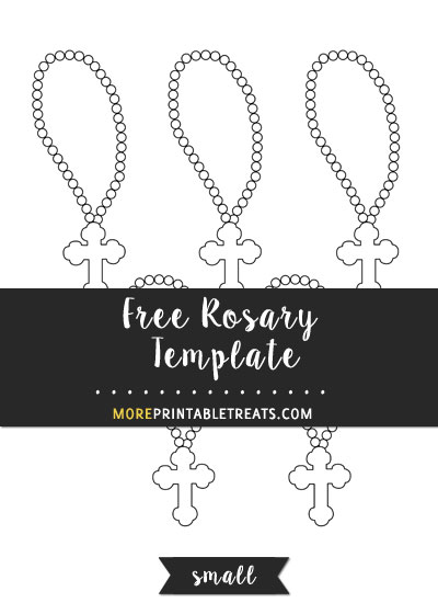 Free Rosary Template - Small Size