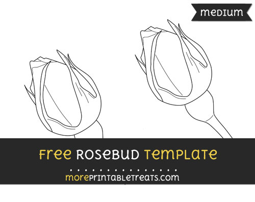 Free Rosebud Template - Medium
