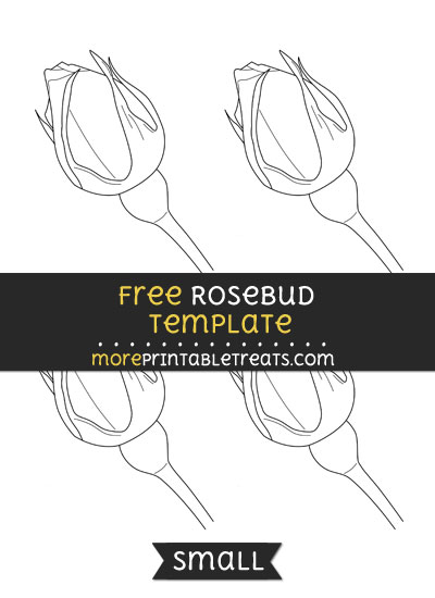 Free Rosebud Template - Small