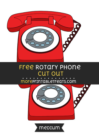 Free Rotary Phone Cut Out - Medium Size Printable