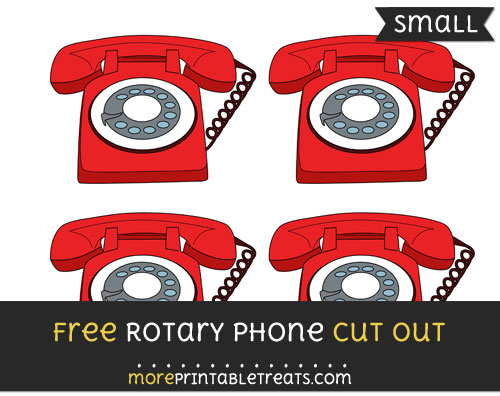 Free Rotary Phone Cut Out - Small Size Printable