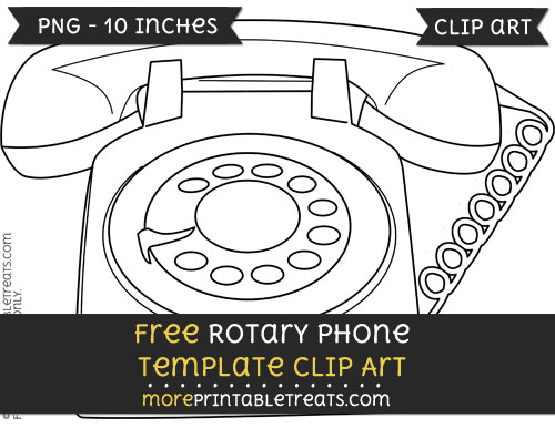 Free Rotary Phone Template - Clipart
