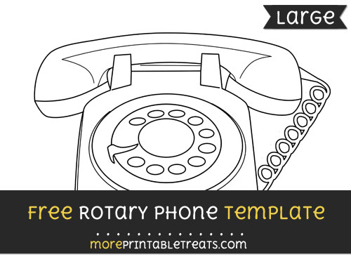 Free Rotary Phone Template - Large