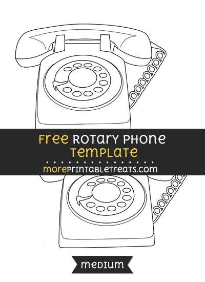 Free Rotary Phone Template - Medium