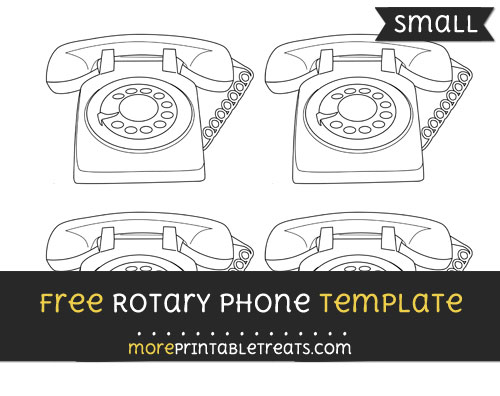 Free Rotary Phone Template - Small
