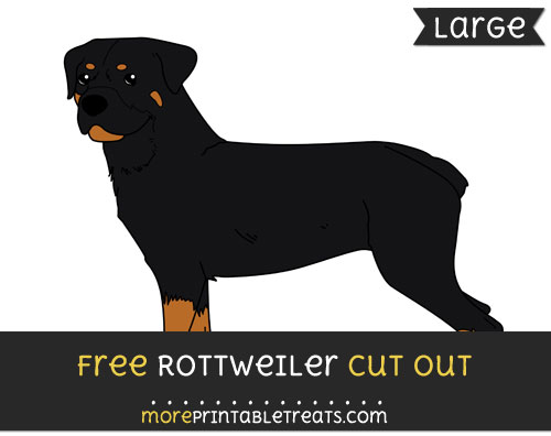 Free Rottweiler Cut Out - Large size printable