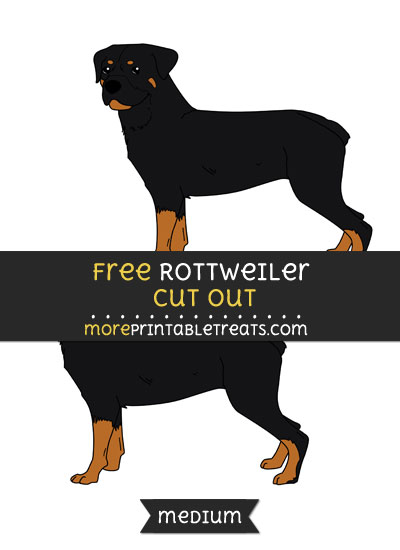 Free Rottweiler Cut Out - Medium Size Printable