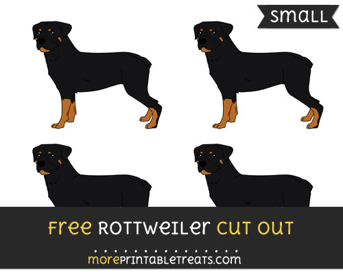Free Rottweiler Cut Out - Small Size Printable