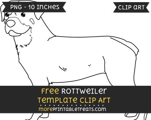 Free Rottweiler Template - Clipart
