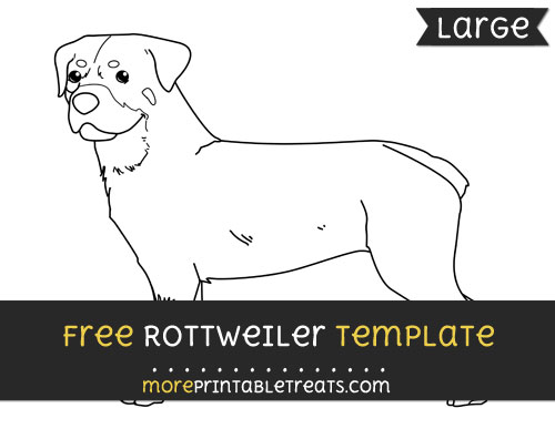 Free Rottweiler Template - Large