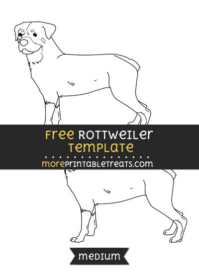 Free Rottweiler Template - Medium
