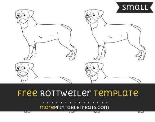 Free Rottweiler Template - Small