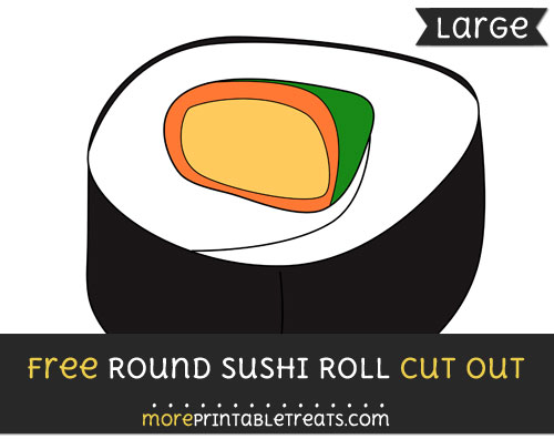 Free Round Sushi Roll Cut Out - Large size printable