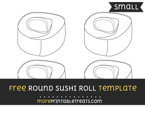 Free Round Sushi Roll Template - Small