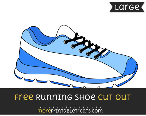 Free Running Shoe Cut Out - Large size printable