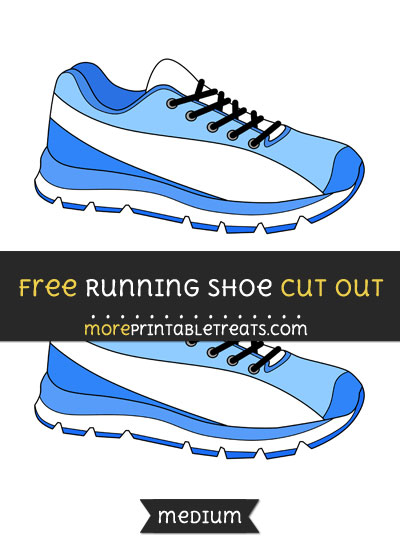 Free Running Shoe Cut Out - Medium Size Printable