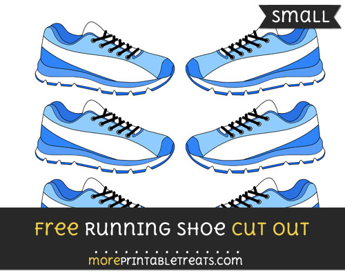 Free Running Shoe Cut Out - Small Size Printable