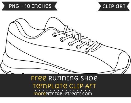 Free Running Shoe Template - Clipart