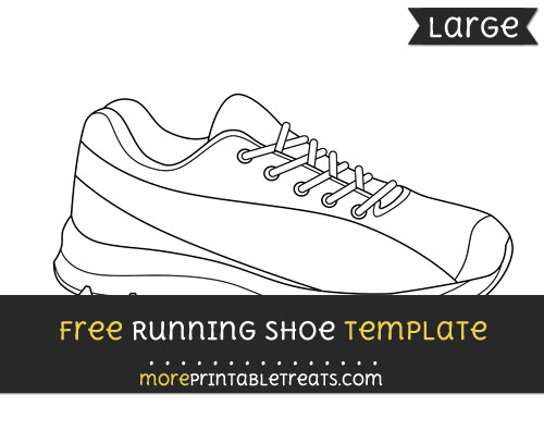 Free Running Shoe Template - Large