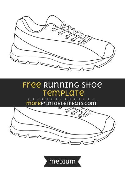 Free Running Shoe Template - Medium