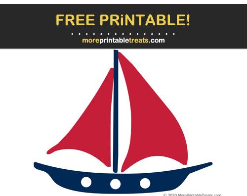 Free Printable Sailboat Cut Out