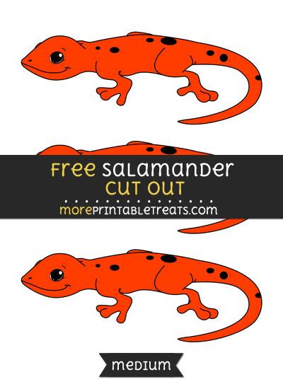 Free Salamander Cut Out - Medium Size Printable