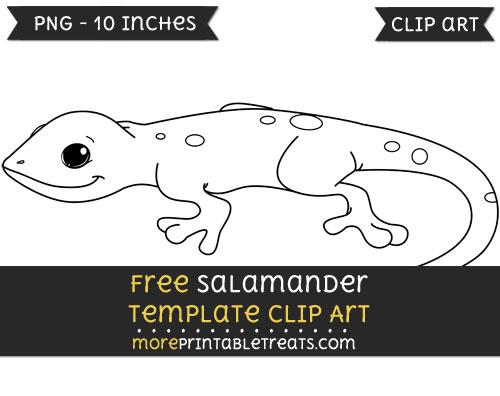 Free Salamander Template - Clipart