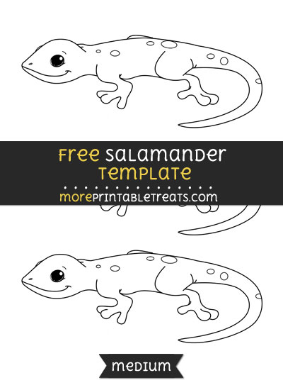 Free Salamander Template - Medium