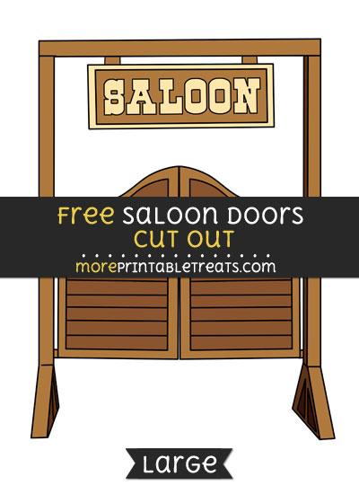 Free Saloon Doors Cut Out - Large size printable