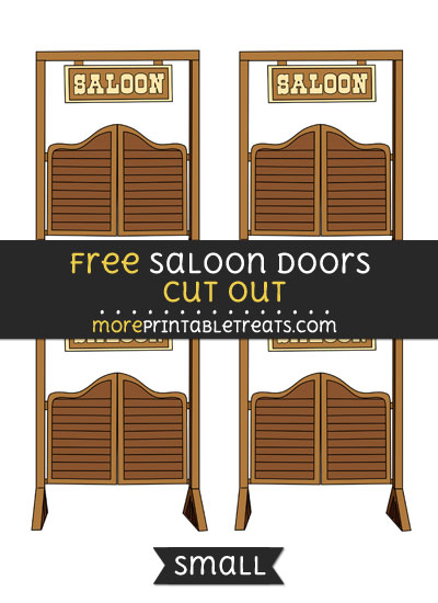 Free Saloon Doors Cut Out - Small Size Printable
